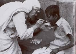 Mother Teresa Serving the Homeless